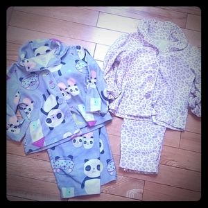 Set of 2 - Carter's Flannel Pajamas - 12M